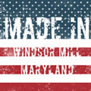 Made In Windsor Mill, Maryland Poster