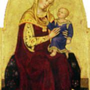 Madonna And Child Enthroned Poster
