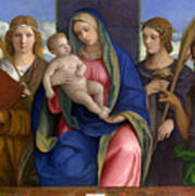 Madonna And Child With Saints Poster