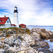 Maine Lighthouse Poster