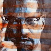 Malcolmx Poster by Paul Lovering