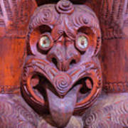 Maori Carving New Zealand Poster