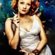 Marlene Dietrich, Vintage Actress Poster