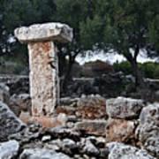 Megalithic Taula In Binisafua Menorca Bronze Age Poster