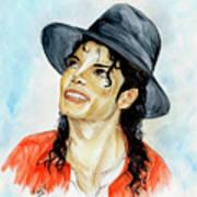 Michael Jackson - Keep The Faith Poster by Nicole Wang