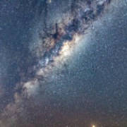 Milky Way And Mars Poster
