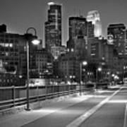 Minneapolis Skyline From Stone Arch Bridge Poster