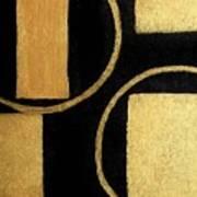 Modern Shapes Gold Poster