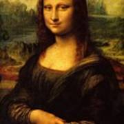 Mona Lisa Portrait Poster