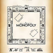 Monopoly Board Game Patent Art  1935 Poster