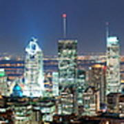 Montreal At Dusk Panorama Poster