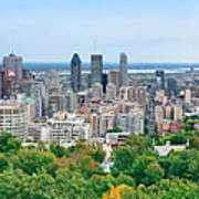 Montreal Day View Panorama Poster