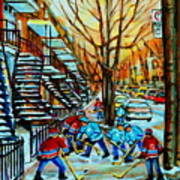 Montreal Hockey Paintings Poster