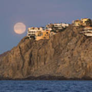 Moonset Over Pedregal Poster