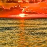 Moorea Sunset Poster