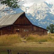 Mormon Row Barn Poster
