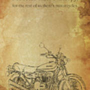 Motorcycle Quote Poster
