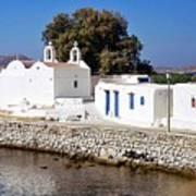 Mykonos Church Poster