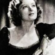 Myrna Loy, Vintage Actress Poster