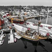 Mystic Seaport In Winter Poster