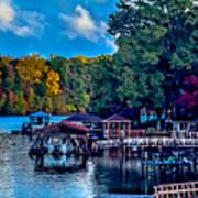 Nature Landscapes Around Lake Wylie South Carolina Poster