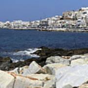 Naxos Greece Harbor Poster