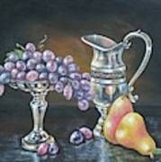 Fruit N Silver Poster by Kimberly Blaylock