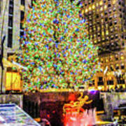New York City Christmas Tree Poster