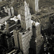 New York Woolworth Building - Vintage Photo Art Print Poster