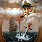 News Map Captain 2 Or Sea Captain Poster