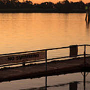 No Swimming Rio Vista Ca Poster by Troy Montemayor