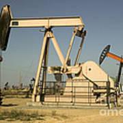 Nodding Donkey Oil Pumps Poster