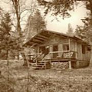 North Maine Cabin Poster