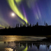 Northern Lights Thingvellir Poster