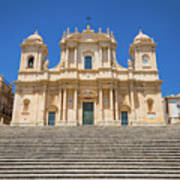 Noto, Sicily, Italy - San Nicolo Cathedral, Unesco Heritage Site Poster