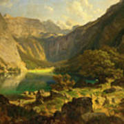Obersee. Bavarian Alps Poster