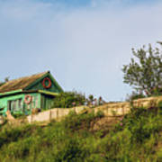 Old Fisherman's House On The Hill Poster