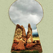 Old Spanish Trail Marker Poster