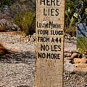 Old Tucson Graveyard Poster