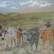 On The Chisholm Trail Poster