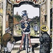 Open Door Cartoon, 1900 Poster