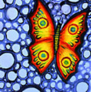 Orange Butterfly Poster by Brenda Higginson