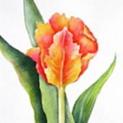 Orange Flame Poster