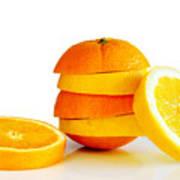 Oranje Lemon Poster