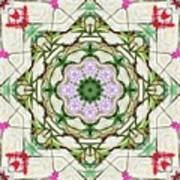 Orchids And Stone Wall Kaleidoscope 1764 Poster