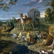 Orpheus And Animals Poster