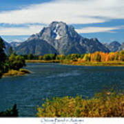 Oxbow Bend In Autumn Poster by Greg Norrell