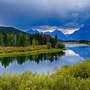Oxbow Bend Storm Clouds Poster