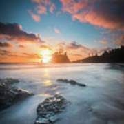 Pacific Sunset At Olympic National Park Poster