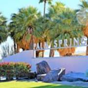 Palm Springs Welcome Poster